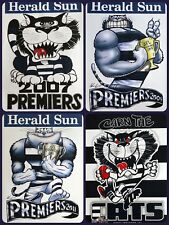 Geelong Cats WEG / Knight Premiers Poster 2007, 2009 & 2011 Plus Supporters