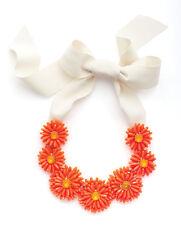 Kate Spade Gerbera Garden Necklace NWT Coral Petals Form Daisy Chain Modern Chic