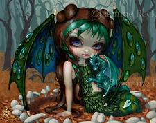 Jasmine Becket-Griffith art print fairy baby green dragon SIGNED Ivy Dragonling