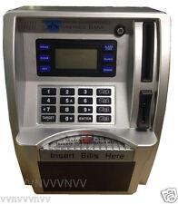 ATM Savings Bank Kids Money Toy Machine Saving Cash Coin Slot Post Bill Black