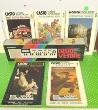 Vintage 1980's Casio Vl-Tone Musical Keyboard & 5 Song Books