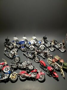 Maisto Motorcycle 1:18 lot  Harley Davidson, Police, Vintage, Indian, Military