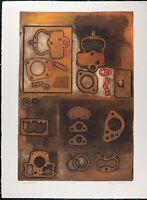 VTG Lithograph by Audrey Grendahl Kuhn (b. 1929), Moab, Embossed silkscreen
