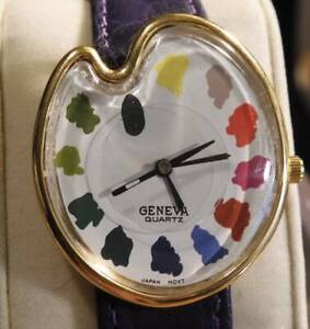 🎨Artist Palette Wristwatch by Geneva👀