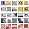"18""*18"" Throw Cotton Waist Geometric Pillow Cover Sofa Cushion Decor Home Case"