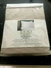 Home Enviroment 100% Cotton Stonewashed King Sheet Set  LIGHT KHAKI Brand New
