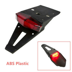 1x 12V Smoke Lens Motorcycle Fender Lamp LED Brake Stop Rear Tail  Red Light