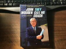 They Call Me Coach by John Wooden Trade Paperback 1985