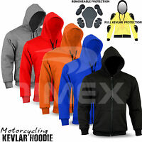 Motorcycle Kavlar Hoodie Hoody Full Protective Armour Lined Fleece Protection
