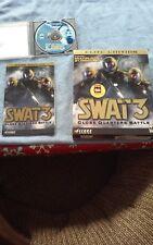 SWAT 3: Close Quarters Battle -- Elite Edition (PC2000    Box and  Docs  Vintage