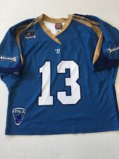 Charlotte Hounds Lacrosse Mll Jersey Size Large Warrior Blue