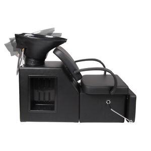 Adjustable Backwash Shampoo Barber Chair Salon Spa Chair Unit Station Equipment
