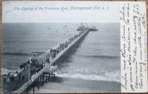 Narragansett Pier, RI 1904 Postcard: Providence Boat Landing - Rhode Island