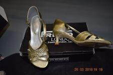 Gold Freed Waltz ballroom/latin dance shoes - size  UK 3.5E