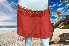 "NWT GOTTEX ""CHAIN REACTION"" RED BATHING SUIT SWIMSUIT COVER UP SKIRT SZ- Small"