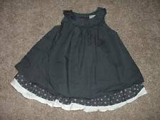 Gymboree Baby Girls First Play Date Gray Dobby Party Dress Size 12-18 months
