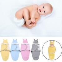 2pcs/set Newborn Baby Cotton Swaddle Blanket Sleeping Swaddle Muslin Wrap + Hat