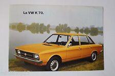 Petite brochure VW K 70 - Volkswagen