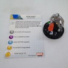 Heroclix Marvel 10th Anniversary set Iron Man #012 Uncommon figure w/card!