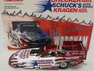DEL WORSHAM 2001 CHECKER SCHUCK'S KRAGEN 1/24 ACTION DIECAST FUNNY CAR 1/3,504