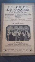 Revista Le Guía de La Concierto Y Las Sketches Letra 1930 N º 24 El Cuarteto Lel