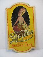 Vintage Needle Case The Life Time A Piccadilly Product Imported Germany Paper