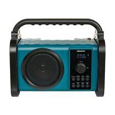 MEDION P66220 Bluetooth Akku Baustellenradio IP44 PLL UKW Radio Licht türkis