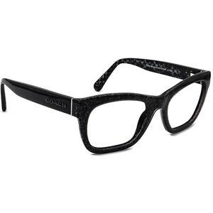 Coach Women's Eyeglasses HC 6115 5505 Black Chunky Glitter Frame 51[]20 135