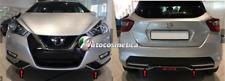 Nissan Micra 17> cover cornici paraurti anteriore+posteriore nero lucido orig