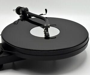 Gloss Black & Mirror Premium Acrylic Turntable Platter Mat. Fits PRO-JECT & REGA