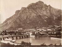 Italia Lecco Lombarda Foto Bosetti Vintage Albumina Ca 1880