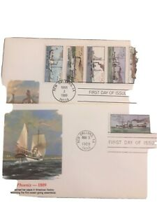First Days Unaddressed Set Of Steam Boats 1989 With Booklet Others F-22
