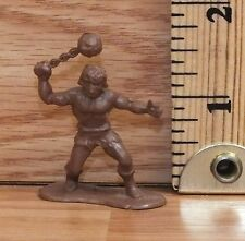 Vintage Toyco 1983 Brown Plastic Barbarian Warrior With Ball & Chain Toy Figure