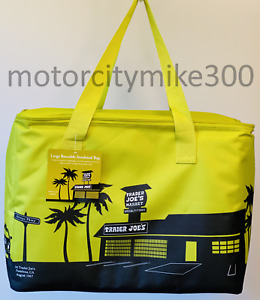 Trader Joe's 8 Gallons Reusable  Bag Cooler Large Insulated Tote/ Collapsable