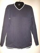 Tommy Hillfiger  Navy Ribbed Lightweight Sweater M FREE FAST SHIP