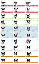 Kuromi boys girlsPersonalised Name Label preschool childcare water proof sticker
