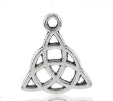 Silver Tone Celtic Knot Charm Jewellery Making Craft 15x17mm