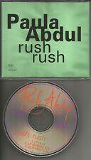 PAULA ABDUL Rush Rush w/ 7 INCH version & DUB MIX 1989 USA PROMO DJ CD single
