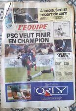 L'Equipe Journal du 30/4/1994; Senna/ PSG/ Handball/ Jalabert/ Pau-Orthez