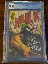 The Incredible Hulk #109 (Nov 1968, Marvel) CGC 9.4 181