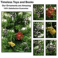 Game Of Thrones Christmas Ornaments 6 Piece Metal Die Cast Set Brand New Ebay