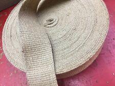 "5 metres of 2"" 50mm natural plain jute webbing chair settee craft binding"