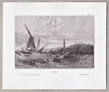 Genova, ITALY, ITALIA-Vista dal mare-grafica, Chiave, Chiave in Acciaio per 1850
