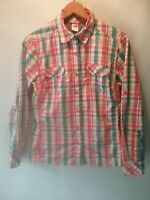 Women's The North Face Colorful Plaid Button Up Long Sleeve Camp Shirt Sz Med.