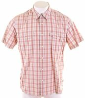 TIMBERLAND Mens Shirt Short Sleeve XL Multi Check Regular  GB09