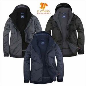 UNEEK Men's Wind Water Proof Premium Outdoor Jacket Soft Micro Fleece Lined Coat