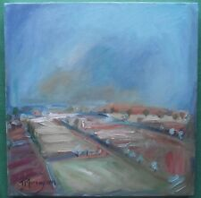 Original Expressionist Landscape Oil Painting by Jane Murray : Big Summer Sky