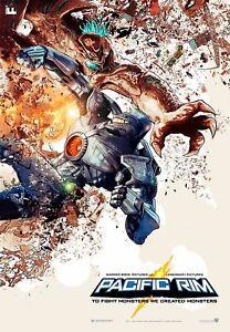 """Pacific Rim (2013) 13.5 """" x 19.5 """" Original Theater Promo IMAX Movie Poster"""