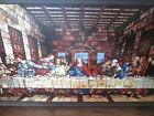 Vintage Lords Supper Stained Glass Panel - Beautiful Colors - 16.25 x 9'