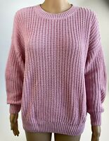 Victoria's Secret PINK Cotton Long Sleeve Knit Crew Neck Sweater Pink  S  NWT